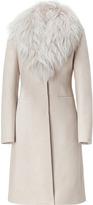 Blumarine Manteau sable avec col