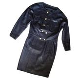 Chanel Veste+jupe Cuir 38