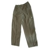 Chanel Pantalon Kaki Coton