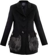 Marc Jacobs Faux-fur trimmed coat