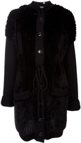 DIOR hooded Mink Fur coat