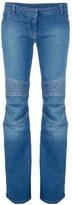 BALMAIN Flared biker jeans