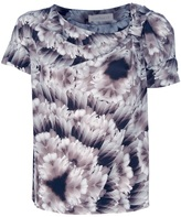CACHAREL feather patterned print T-sh