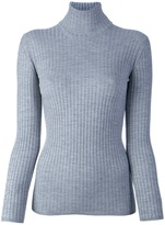 BLUMARINE fitted polo neck sweater